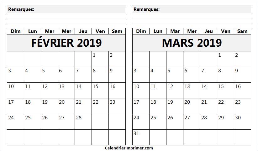 calendrier f vrier mars 2019 a remplir yummy en 2019 2019 calendar calendar et february. Black Bedroom Furniture Sets. Home Design Ideas