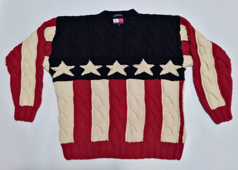 Tommy Hilfiger Sweater Men/'s Large 1990s Vintage
