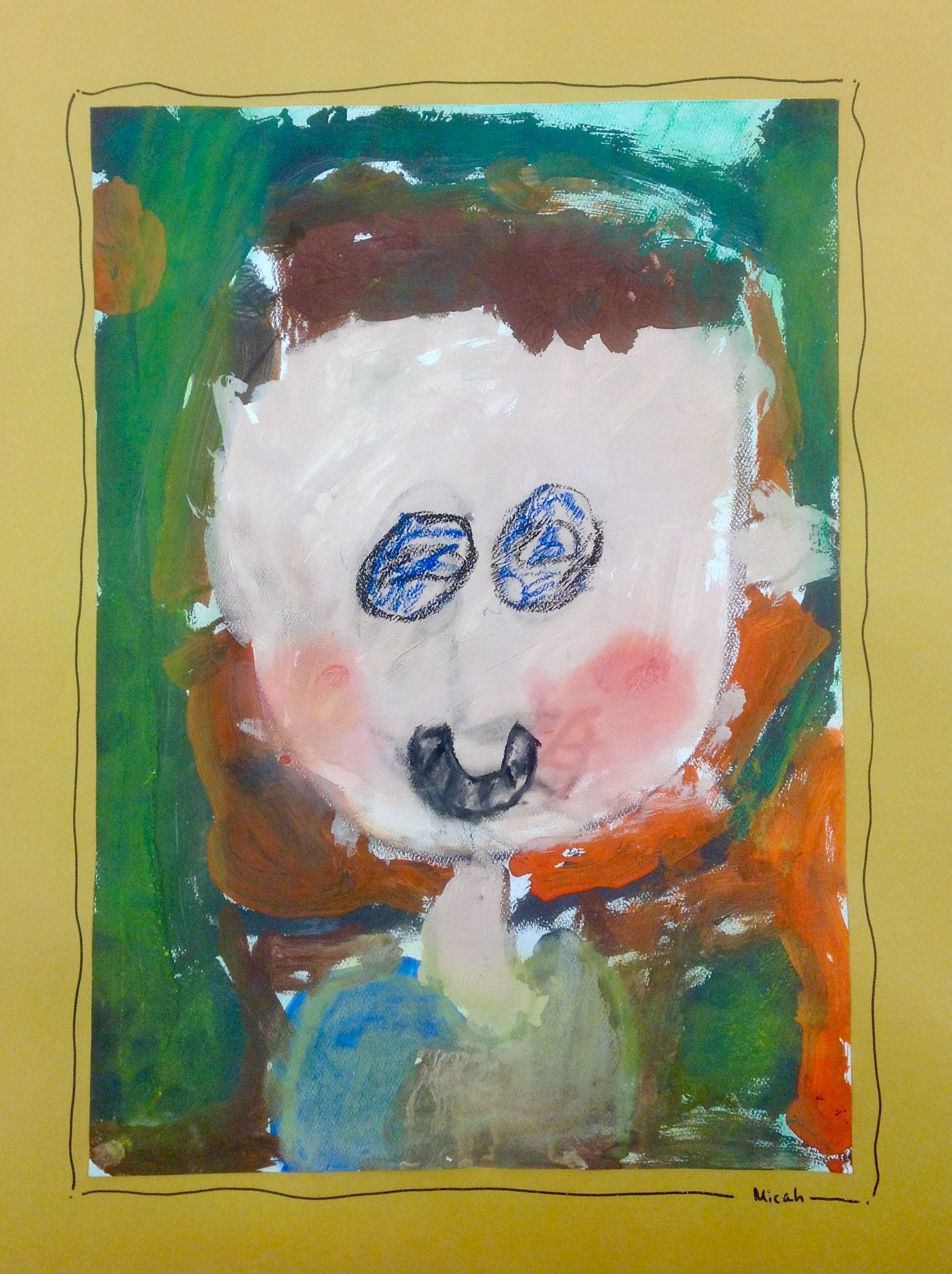 Kindergarten self-portrait