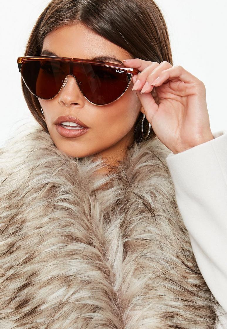 e139878bd3 Quay Australia X Elle Ferguson Goldie Tortoiseshell Sunglasses