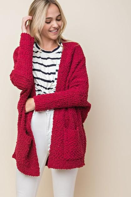 THICK TEXTURED KNIT OVERSIZED CARDIGAN. Find this Pin and more on SHOP MAX  STYLE ... 9f8f004b0