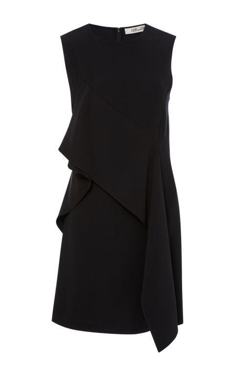Diane von Fürstenberg Schwarze Minikleid mit Volant in
