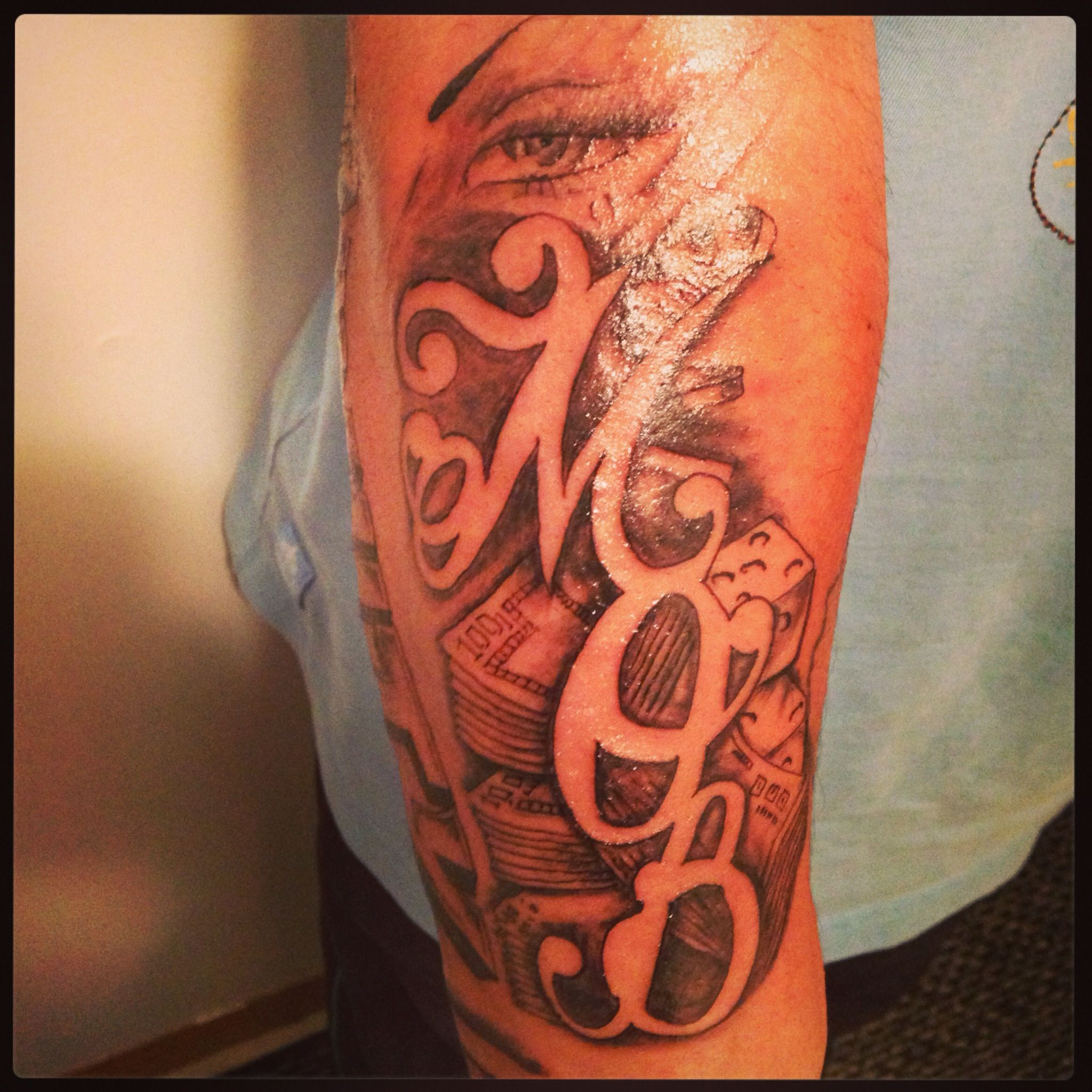 Quot M O B Quot Money Over B S Tattoo By Keno G Money border=