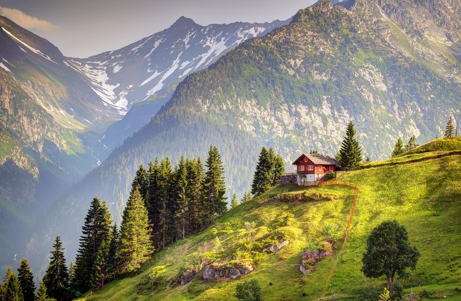 Download House in Switzerland 4k wallpaper for free  Come