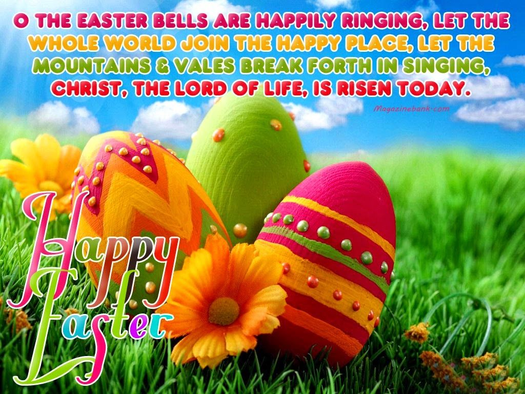 Wishing you all a happy easter 3 god bless and thank you for happy easter sunday wishes sms and greetings messages m4hsunfo