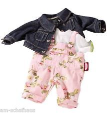 Götz Puppe Gr. 30-33 Puppenkleidung Latzhose Jeansjacke Shirt Geschenk 3402180