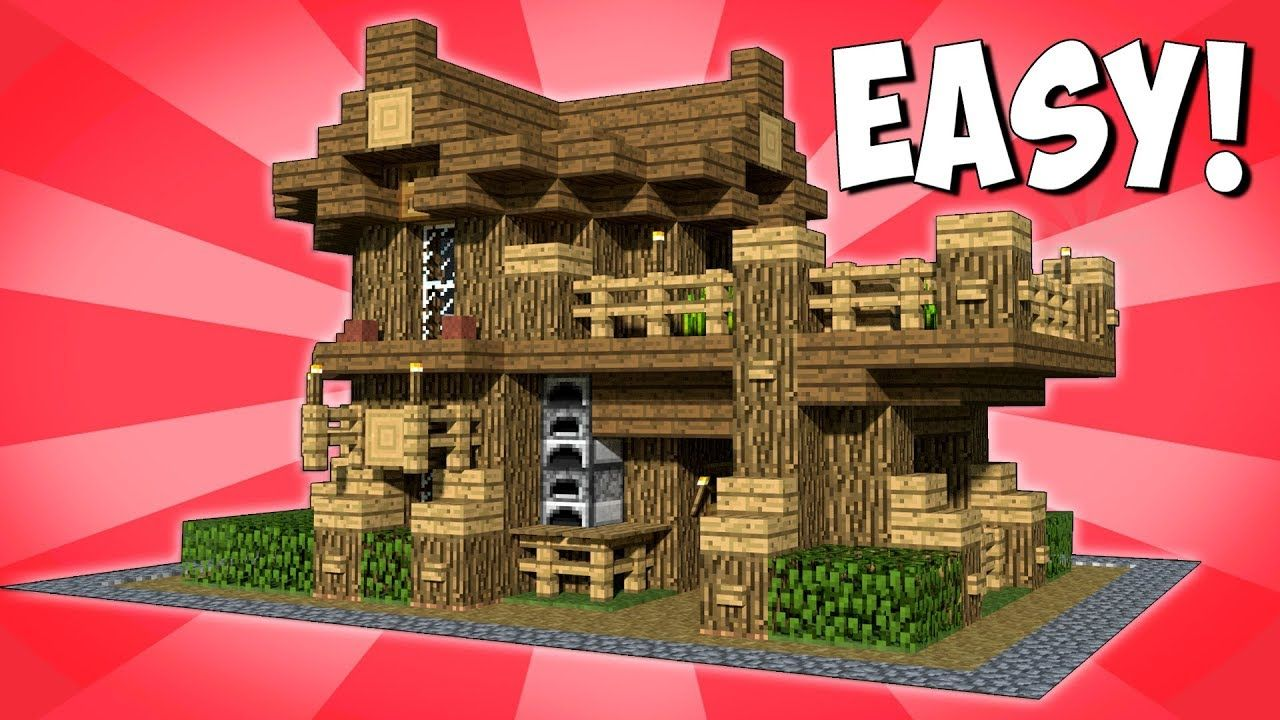EASY AND COMPACT SURVIVAL HOUSE! HOW TO MAKE A WOODEN HOUSE