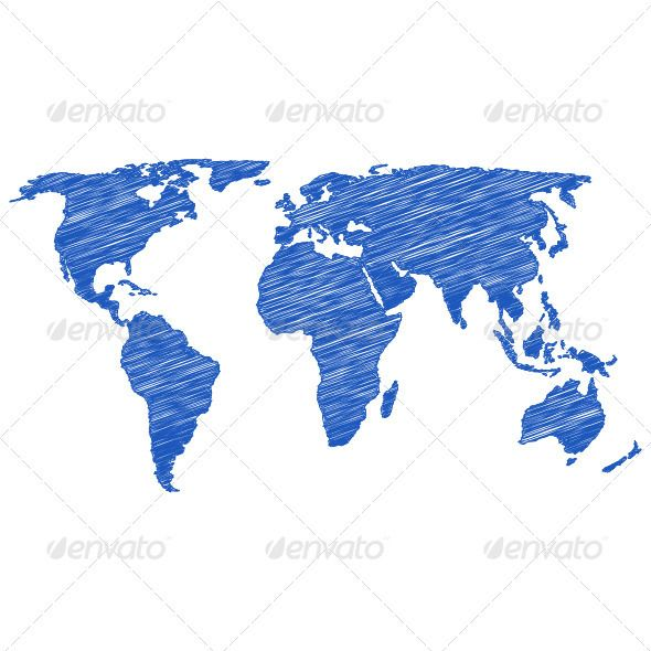 World map drawing world map gumiabroncs Choice Image