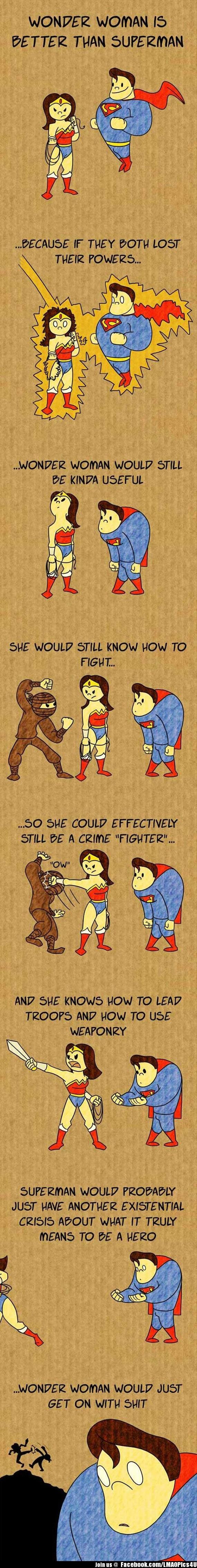 Wonder Woman vs. SuperMan - Humorous Funny Jokes