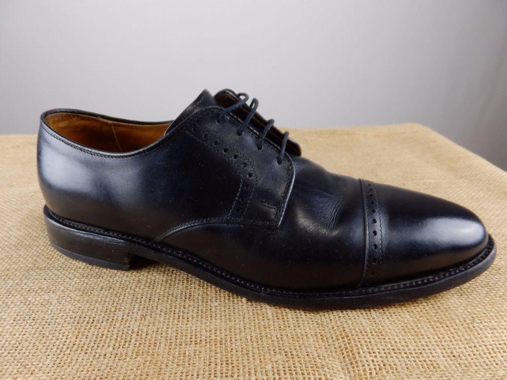 Allen Edmonds Clifton Mens Black Captoe Oxford Dress Shoes 12D