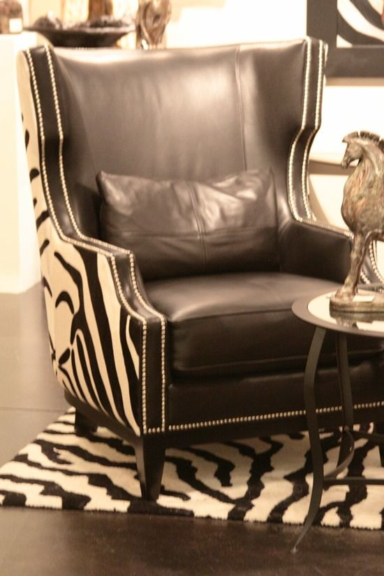 Zebra Print Nailhead Trim Chair Best Piece Of Furniture I Have Seen Love It