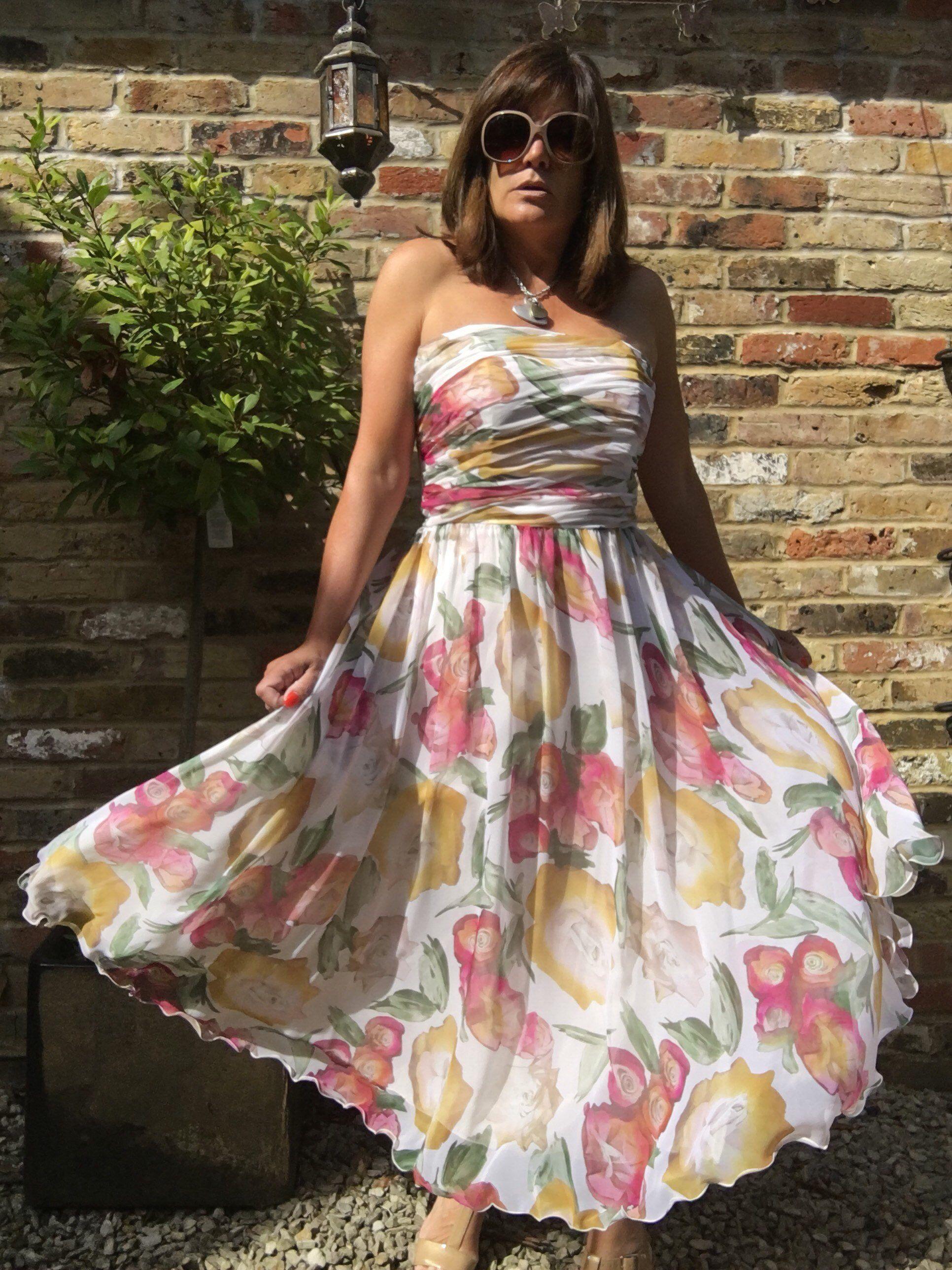 5046c91ea6e6 Jahn & Pill vintage floral Summer strapless dress | Pearlandiris | Dresses,  Strapless dress formal, Strapless Dress