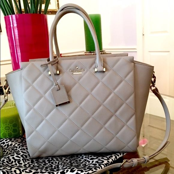 Kate Spade Emerson Place Hayden Top selling Hayden style. Smooth, soft quilted leather from ks Emerson Place collection. Detachable crossbody strap, storage sack included. Looks new. Beautiful condition - carried only 3 times. kate spade Bags Satchels