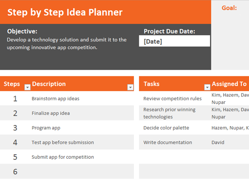 Idea Planner  Planning    Planners