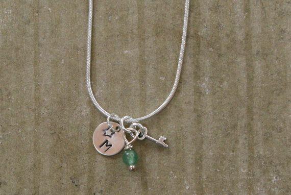 THE KEY TO Tiny Silver Skeleton Key and by gemstonetalisman, $32.00