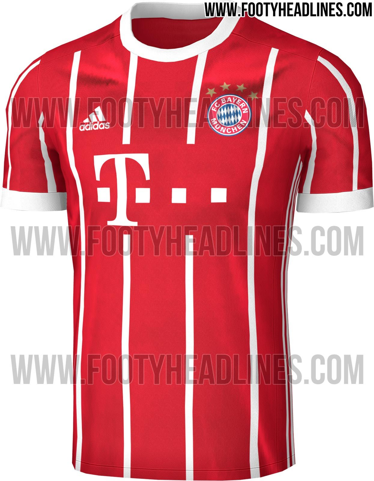The Bayern Munich 17-18 home kit introduces a clean design that marries  past with
