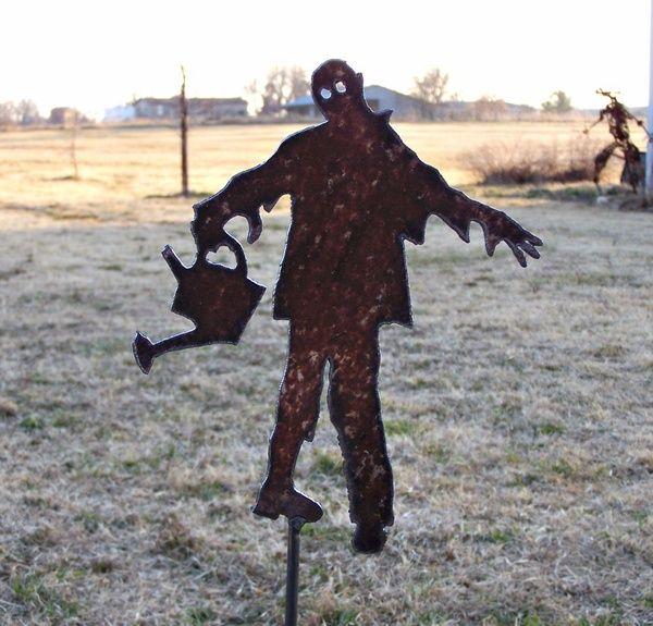 Zombie Gardener Stake Undead Ghoul Yard Invasion of by VonChandler