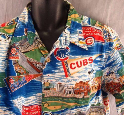 a9274d273 Chicago-Cubs-Reyn-Spooner-Hawaiian-Shirt-XL-Button-Front-Harry-Caray-Wrigley
