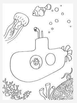 Submarine Adventure Coloring Page Coloring Pages Submarine