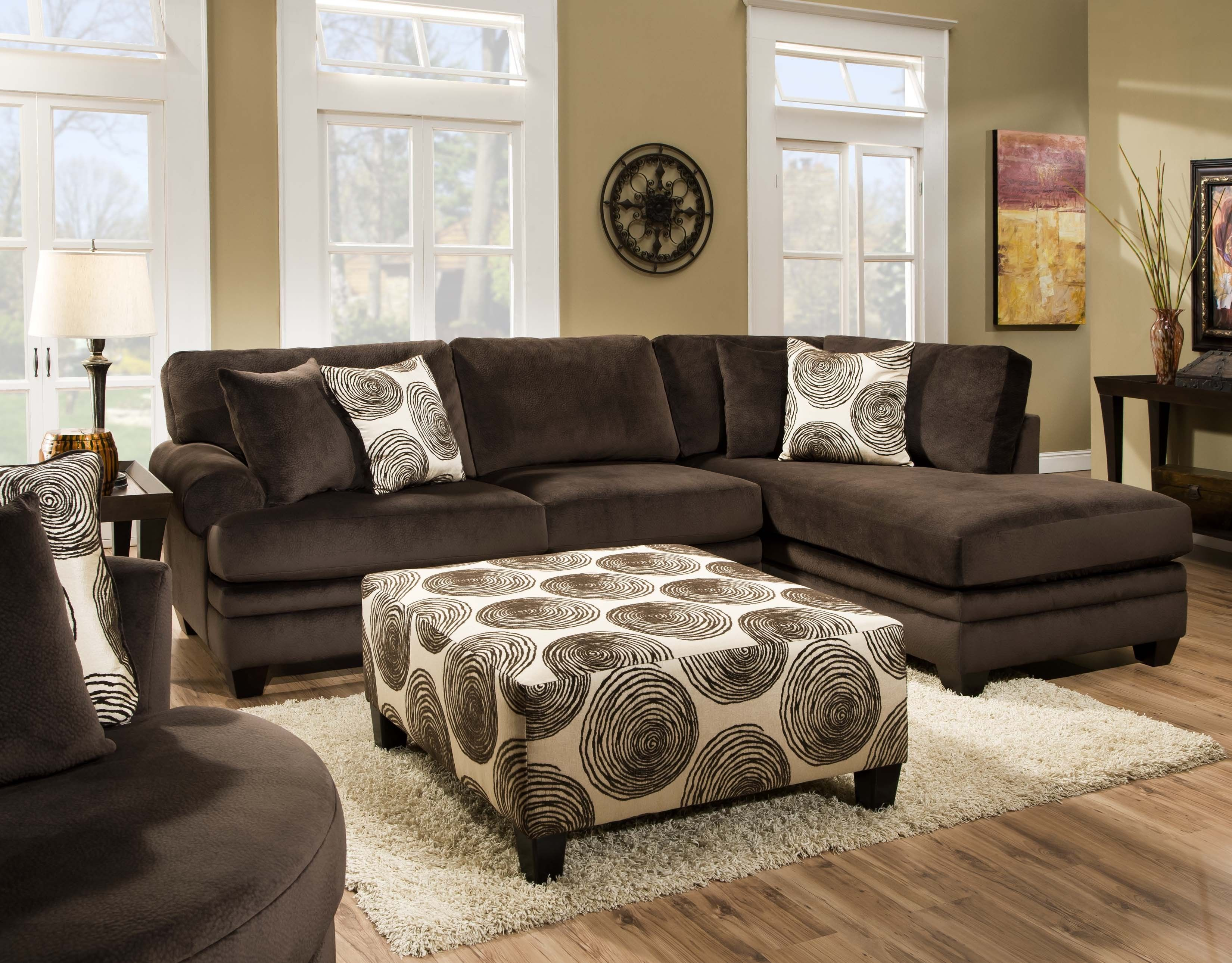 Rayna Sectional by Chelsea Home Furniture in Groovy Chocolate Big