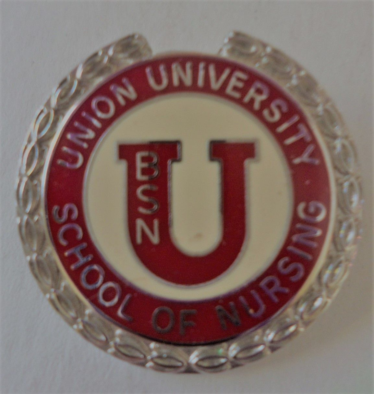 School of Nursing Pin. Nursing program. Union University