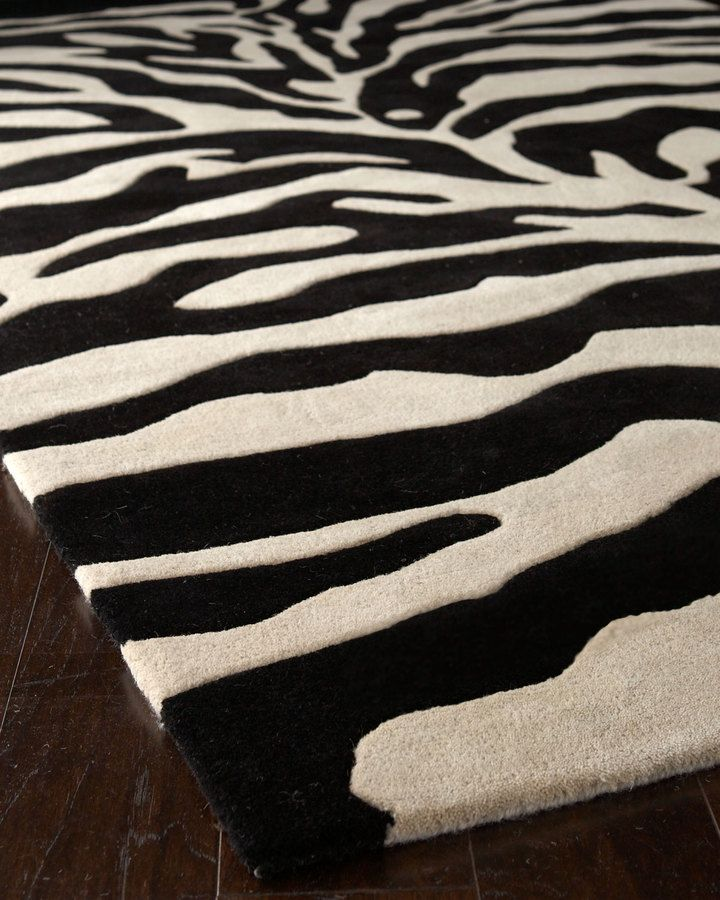 6c5681befb2 Horchow Fair Ivory Zebra Rug