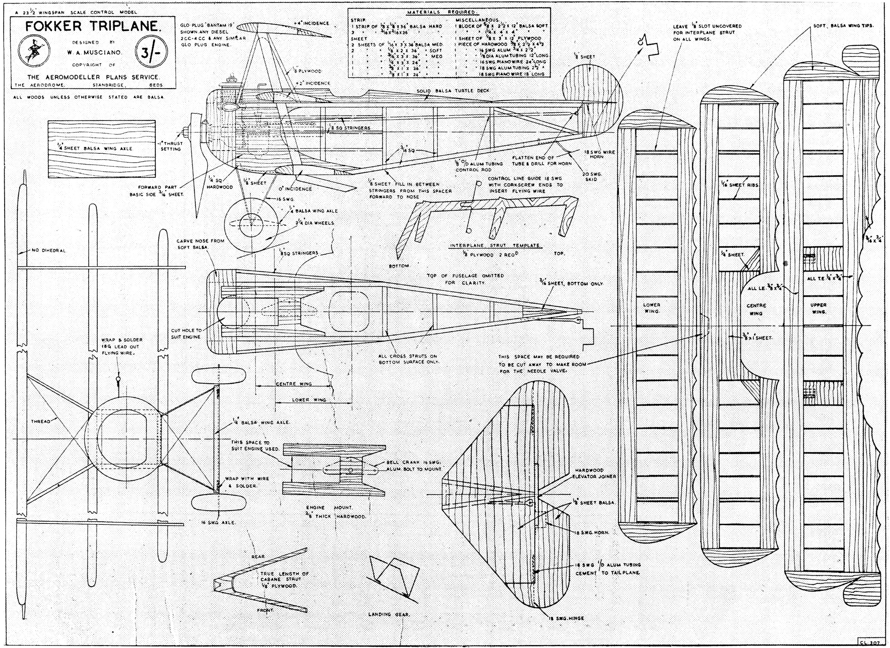 Pin By Erolakca On Model Ucak Rc Plane Plans Airplanes Wiring Diagram Aircraft Drawings Fokker Triplane Balsa Wood Models Scale