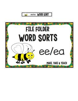ee ea Word Sort - File Folder Word Sorts