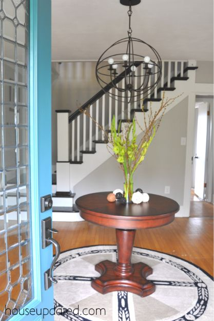 LOVE The Doorm The Light Fixture, The Open Foyer U0026 The Round Entry Table.