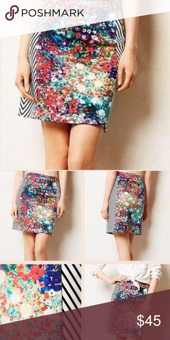301a622db63b Anthropologie tabitha skirt watercolor Awesome skirt. Worn once and got  tons of compliments but re poshing because I think I need a size up :(.