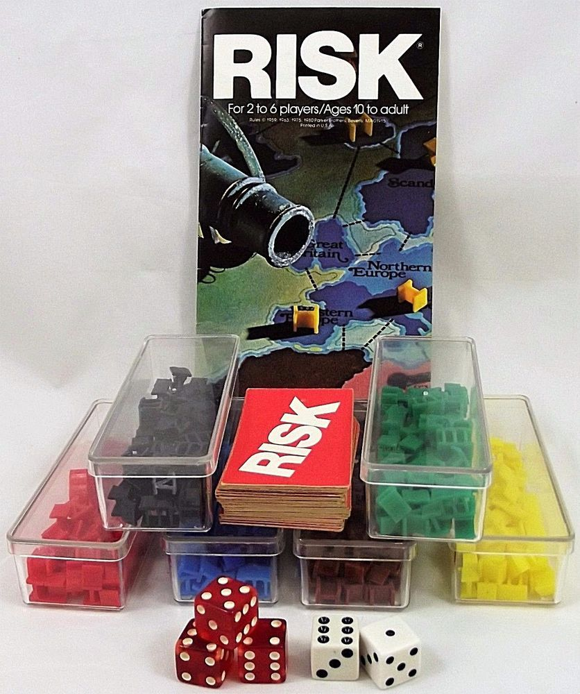 risk board game pieces plastic armies 44 cards instruction manual rh pinterest com Printable Board Games Game Board Directions