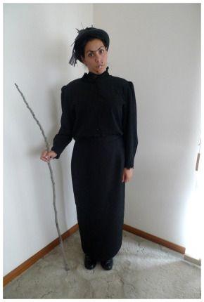 adult womens nanny mcphee style costume