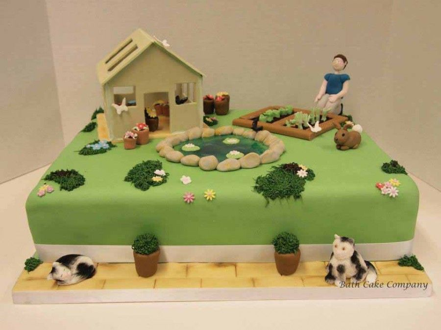 Garden Decoration For Cake : Garden Themed Birthday Cake Cake Toppers Pinterest ...