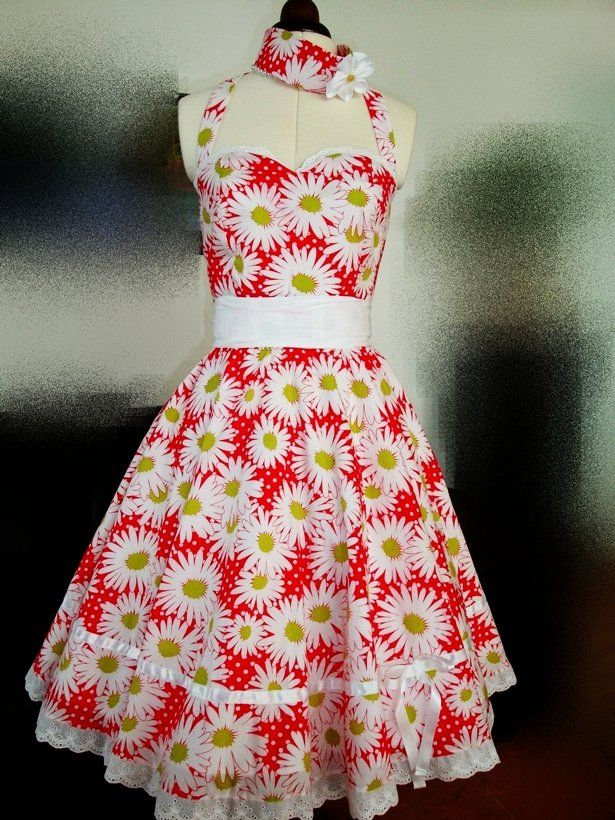 rockabilly dress pattern free | PINTADOS A MANO | Pinterest | Comic ...
