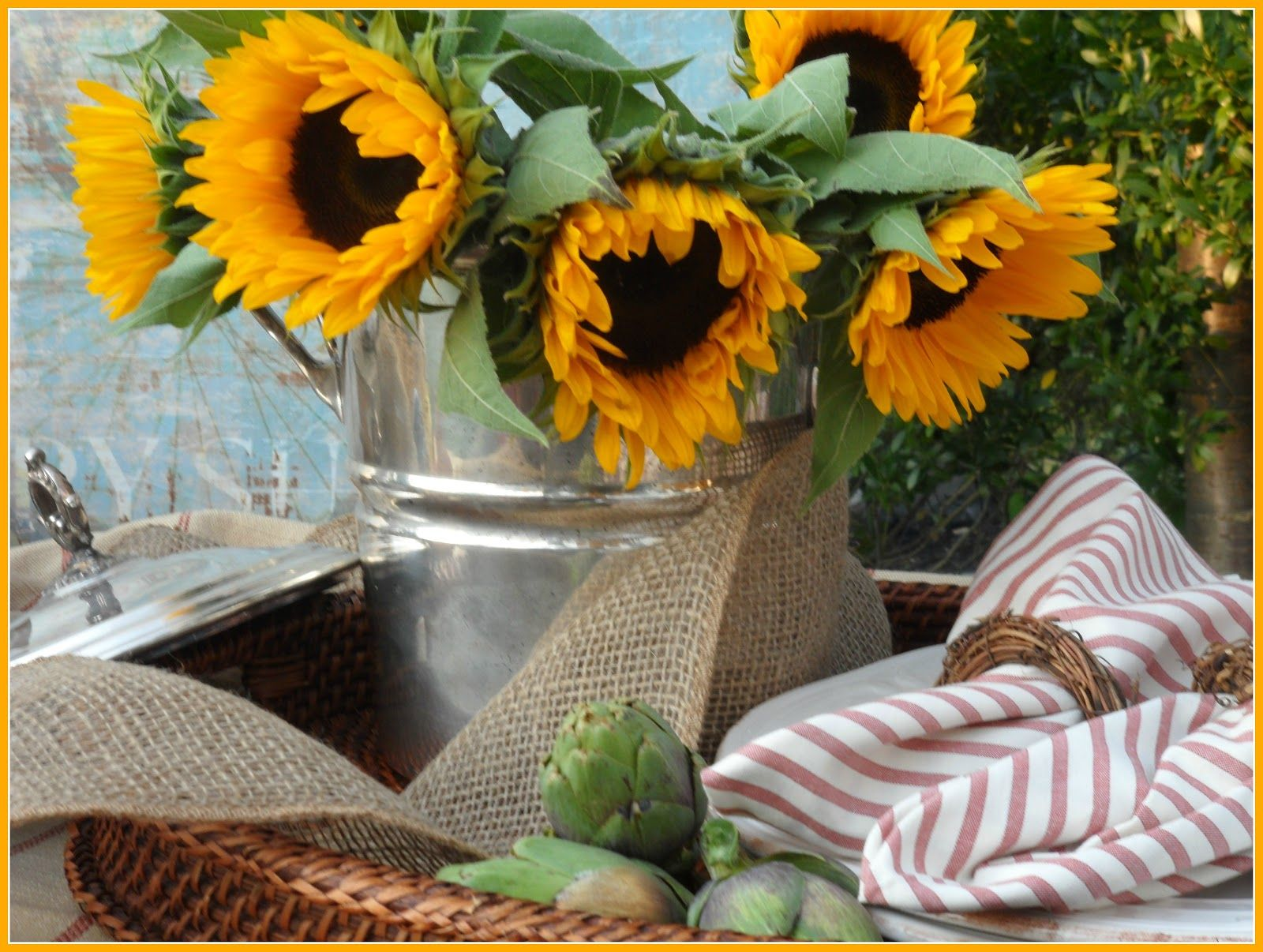 Rosemary and Thyme: Sunflowers to Brighten My Day
