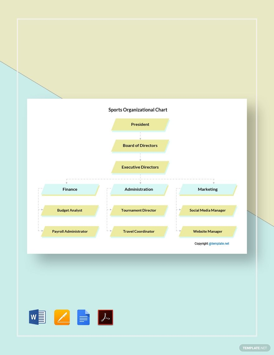 Free Sample Sports Organizational Chart Template In 2020 Organizational Chart Templates Responsive Website Template