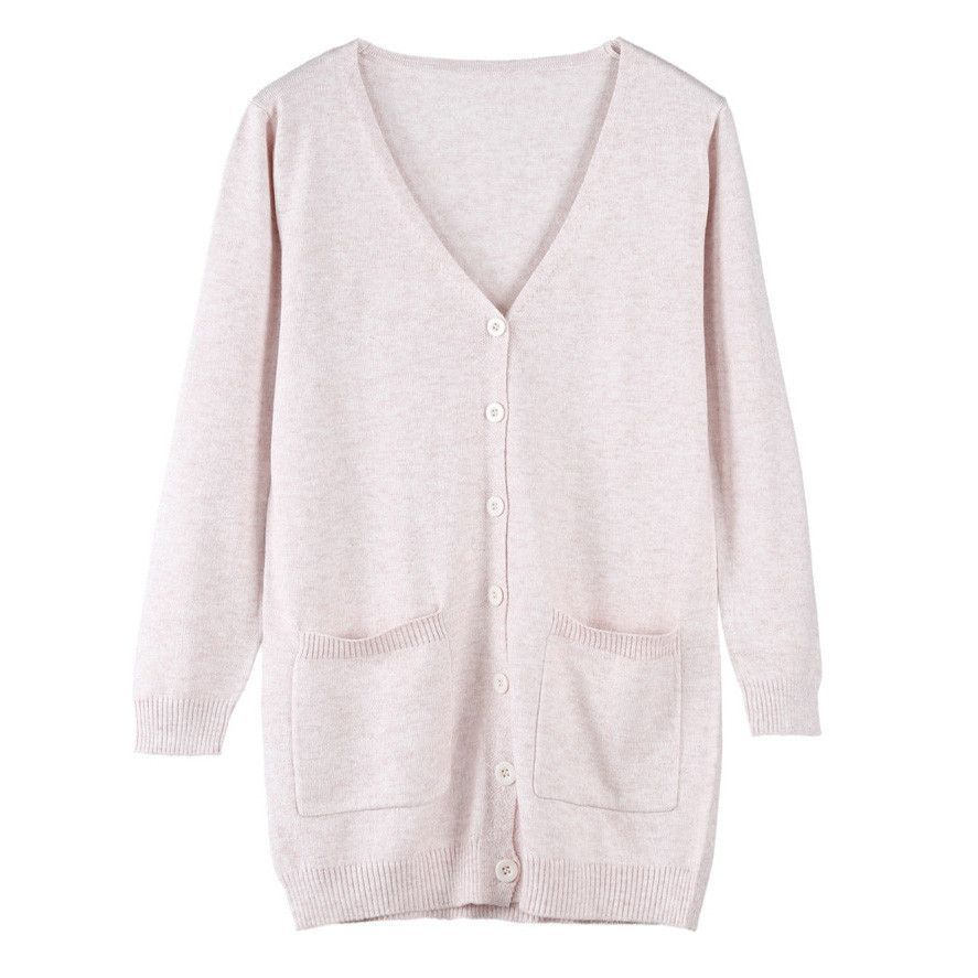 Women Cardigan Spring Autumn Lady Cashmere Sweater Fashion Medium ...