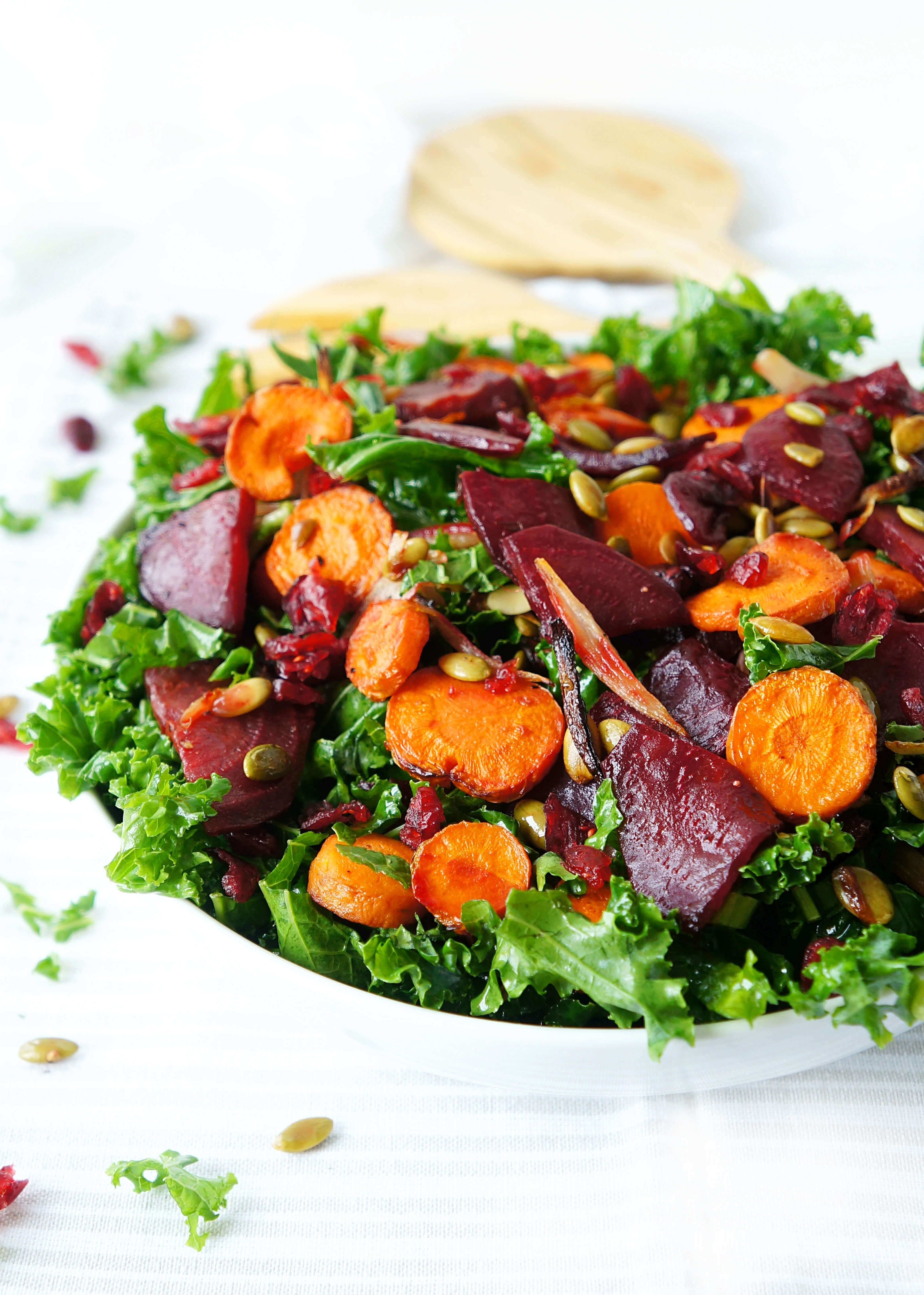 Roasted Beet, Carrot & Kale Salad #healthyliving