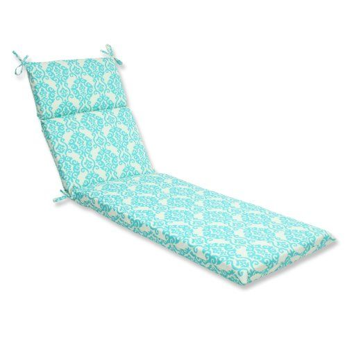 Turquoise · Pillow Perfect Outdoor Luminary Chaise Lounge Cushion ...  sc 1 st  Pinterest : turquoise chaise lounge cushions - Sectionals, Sofas & Couches