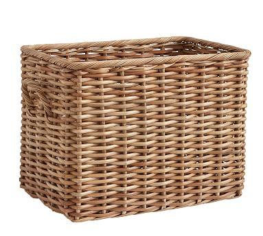 Aubrey Woven Oversized Rectangle Basket Natural Basket