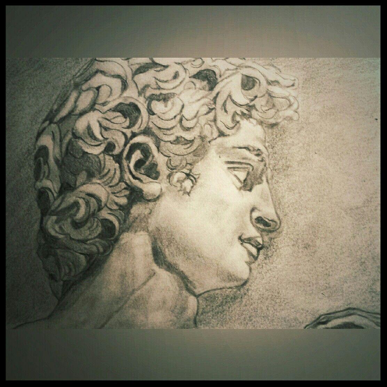 Ejercicio Clasico A Lapiz David Male Sketch Portrait Portrait Tattoo