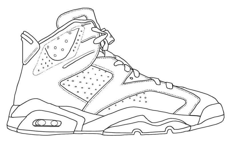 Coloring Jordans | Coloring Page | Pinterest
