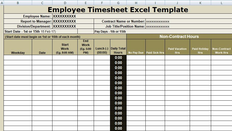 employee timesheet excel template is specially design for the