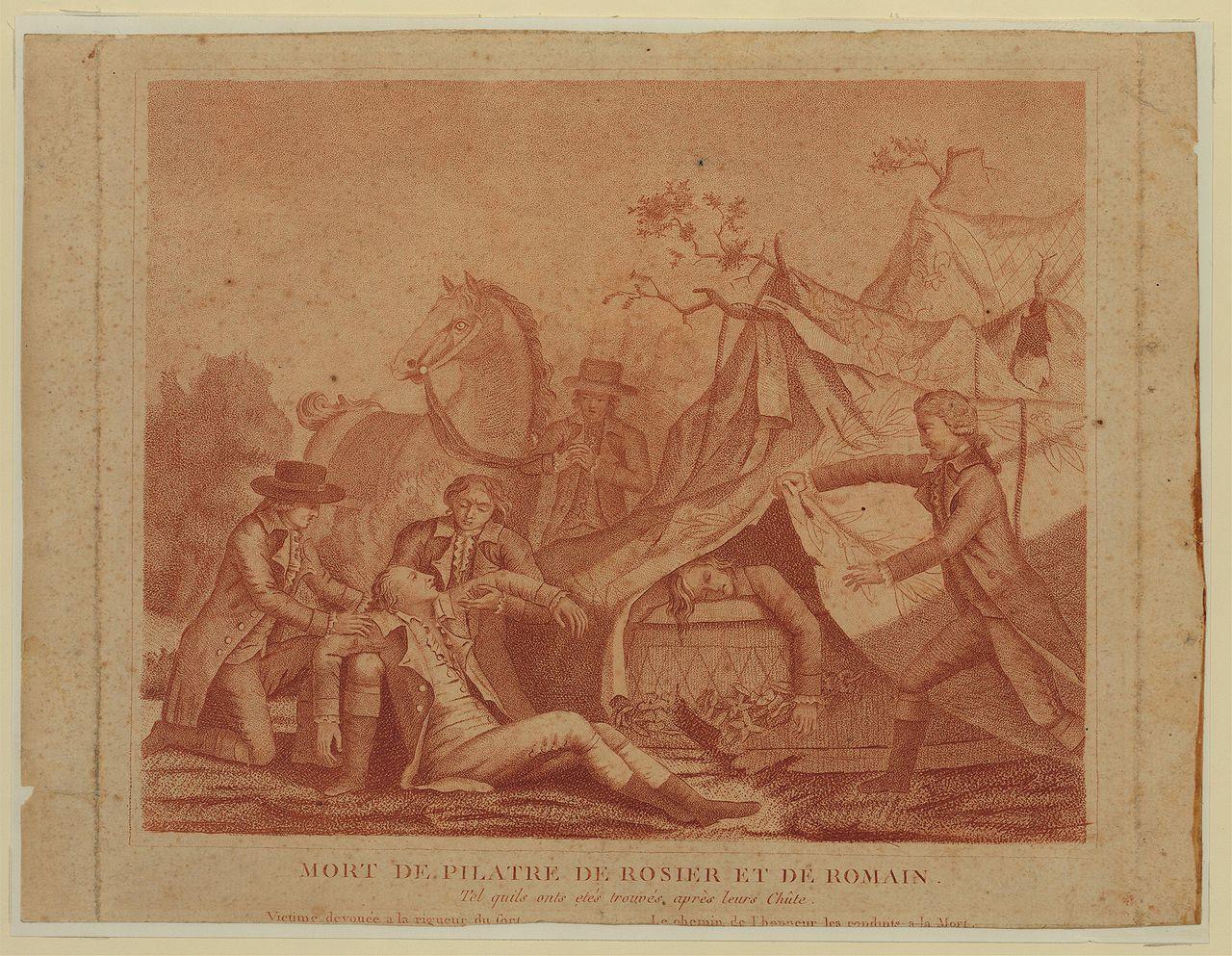 Aviation fatality Pilatre de Rozier and Romain Jean