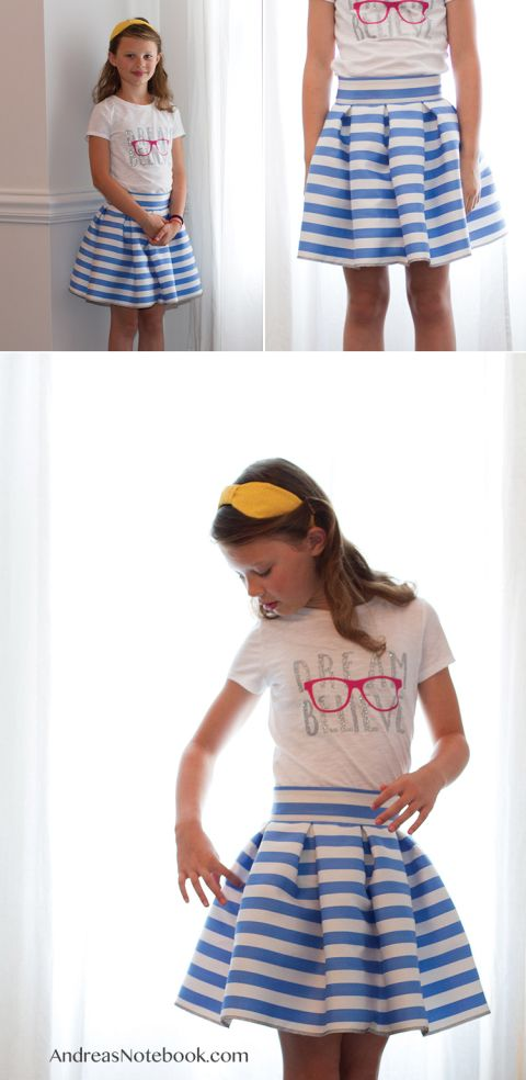 FREE skirt tutorial gonna a pieghe | navody šití | Pinterest ...