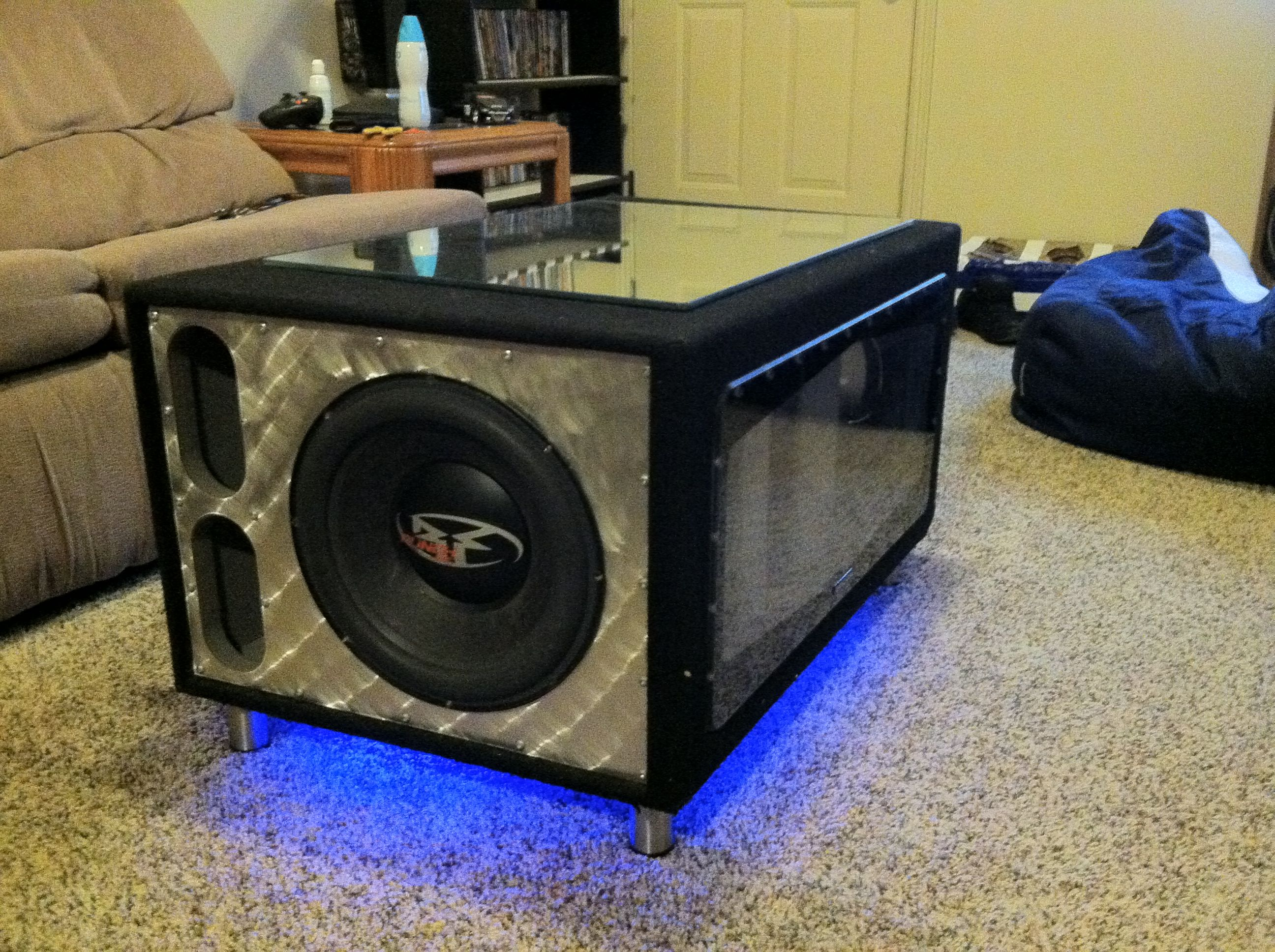 plete Rockford fosgate function able coffee table loud badass