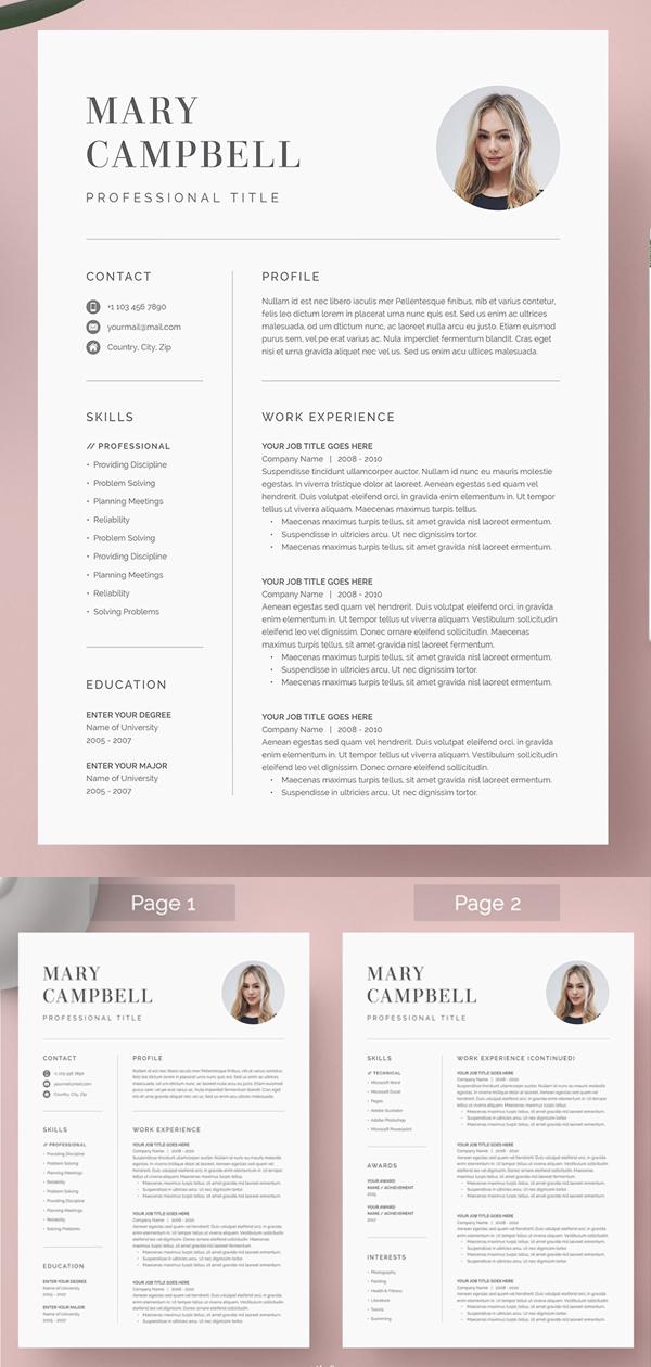 25 Clean Minimal Resume Templates Design In 2020 Minimal Resume Resume Templates Minimal Resume Template