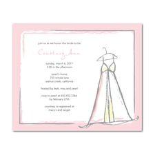 Charming Dress  Bridal Shower Invitations