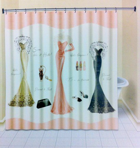 Avanti Dressed To Thrill Shower Curtain Http Www Amazon Com Dp B00gi2pdjm Ref Cm Sw R Pi Awdm Cool Shower Curtains Girly Shower Curtain Girls Shower Curtain