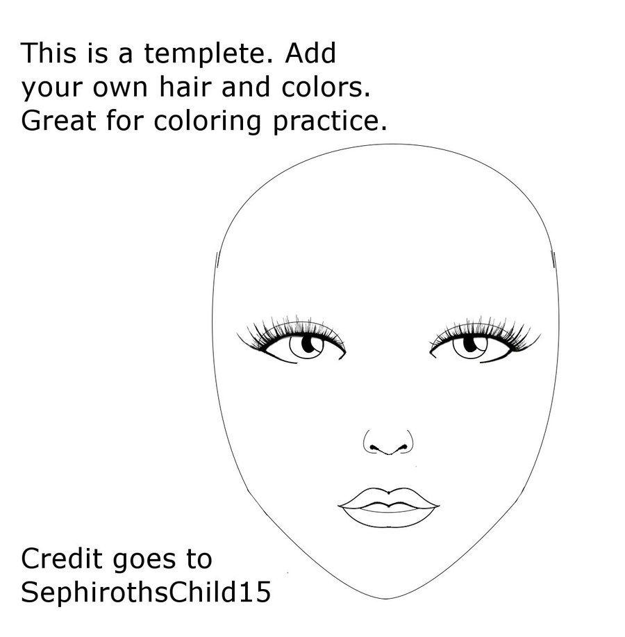 Face Painting Face Template